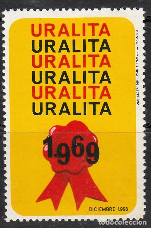 VIÑETA URALITA 1969 (Sellos - Extranjero - Viñetas)