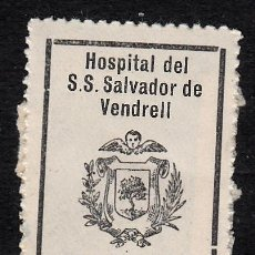 Sellos: VIÑETA - FISCAL HOSPITAL DE SANT SALVADOR EL VENDRELL- TARRAGONA 25 CÉNTIMOS . Lote 130551478
