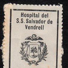 Sellos: VIÑETA - FISCAL HOSPITAL DE SANT SALVADOR EL VENDRELL- TARRAGONA 25 CÉNTIMOS. Lote 131937310