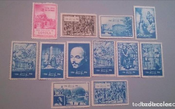 OC- COLECCION VIÑETAS - PRO CENTENARIO - 1556 - 1956 - SAN IGNACIO DE LOYOLA -AZPEITIA - GUIPUZCOA. (Sellos - Extranjero - Viñetas)