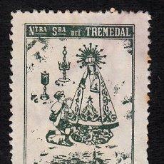 Sellos: VIÑETA NTRA. SRA. DEL TREMEDAL - TRONCHON - TERUEL . Lote 133972006