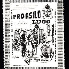 Sellos: VIÑETA PRO - ASILO DE LUGO . Lote 137140282