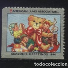 Sellos: S-2381- USA. VIÑETA AMERICAN LUNG ASSOCIATION. GREETINGS 1994. PRO TUBERCULOSOS. CRUZ DE LORENA.. Lote 147554514