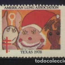 Sellos: S-2413- USA. VIÑETA. AMERICAN LUNG ASSOCIATION. TEXAS 1978. PRO TUBERCULOSOS. CRUZ LORENA.. Lote 147667154