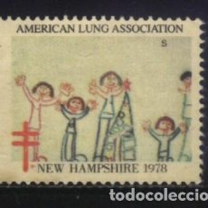 Sellos: S-2424- USA. VIÑETA. AMERICAN LUNG ASSOCIATION. NEW HAMPSHIRE 1978. PRO TUBERCULOSOS. CRUZ LORENA.. Lote 147891022
