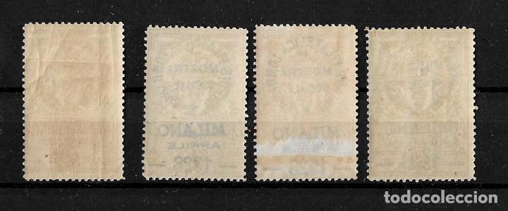 Sellos: Italia lote de 4 viñetas sobrecargadas de la union filatelica Lombarda Milan 1928 - Foto 2 - 148805410