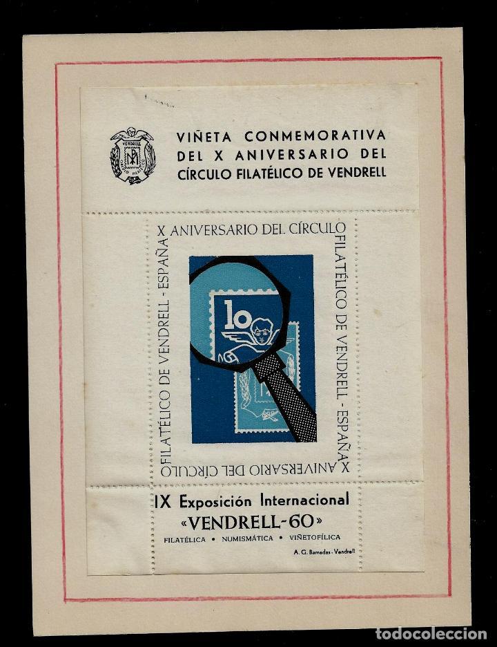 VIÑETA - X ANIVERSARIO DEL CIRCULO FILATICO DE VENDRELL Y IX EXPOSICION INTERNACIONAL VENDRELL-60 (Sellos - Extranjero - Viñetas)