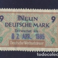 Sellos: S-2543- ALEMANIA. GERMANY. SELLO FISCAL. DEUTSCHE WECHSELSTEUR.. Lote 150015882
