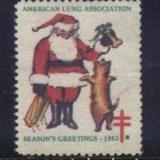 Sellos: S-2667- USA. VIÑETA. AMERICAN LUNG ASSOCIATION. SEASON´S GREETINGS. PRO TUBERCULOSOS. CRUZ LORENA.. Lote 151620390
