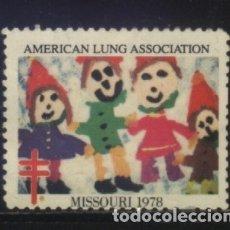 Sellos: S-2668- USA. VIÑETA. AMERICAN LUNG ASSOCIATION. MISSOURI 1978. PRO TUBERCULOSOS. CRUZ LORENA.. Lote 151620494