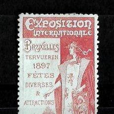 Sellos: BELGICA 1897 VIÑETA DE LA EXPOSICION INTERNACIONAL DE BRUSELAS NUEVA CON CHARNELA. Lote 151869630