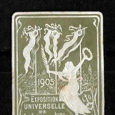Sellos: BELGICA 1905 VIÑETA DE LA ESXPOSICION UNIVERSAL DE LIEJA . Lote 151870290