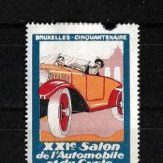 Sellos: BELGICA 1927 VIÑETA DEL XIX SALON DEL AUTOMOVIL DE BRUSELAS NUEVO CON CHARNELA. Lote 151870866