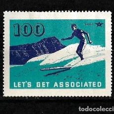 Sellos: ESTADOS UNIDOS VIÑETA SOBRE EL SURF EN HAWAI NUEVO CON CHARNELA . Lote 151873870