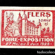 Sellos: FRANCIA 1928 VIÑETA DE LA FERIA EXPOSICION DE FLERS ORNE NUEVO CON CHARNELA . Lote 151950206