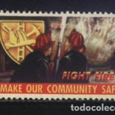 Sellos: S-3098- VIÑETA. FIGHT FIRE. MAKE OUR COMMUNITY SAFE. Lote 156544666