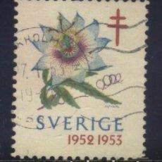 Sellos: S-3099- SUECIA. SVERIGE. VIÑETA 1952. PRO TUBERCULOSOS. CRUZ LORENA . Lote 156544998