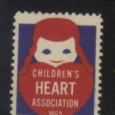 Sellos: S-3100- CHILDREN'S HEART ASSOCIATION 1952. Lote 156573902