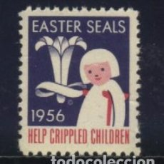 Sellos: S-3105- CANADA. EASTER SEALS. HELP CRIPPLED CHILDREN. 1956. Lote 156575802