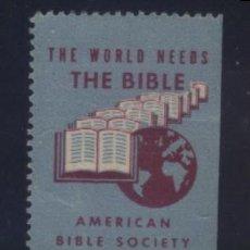 Sellos: S-3107- VIÑETA. AMERICAM BIBLE SOCIETY.. Lote 156576346