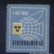 Sellos: S-3122- SUECIA. SWEDEN. STOCKHOLMIA 1955. Lote 156678974