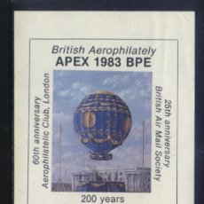 Francobolli: S-3289- BRITISH AEROPHILATELY. APEX 1983 BPE.. Lote 158770674