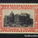 Sellos: S-3388- IRLANDA. EIRE. PENNA. ST. VINCENT´S HOSPITAL. SASSAFRAS AT 24 TH.. Lote 160276206