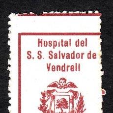 Timbres: VIÑETA DE HOSPITAL DEL S.S SALVADOR DE EL VENDRELL 1 PESETA. Lote 161573686