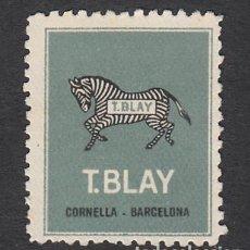Sellos: VIÑETA T. BLAY EN CORNELLÁ - BARCELONA . Lote 161577578