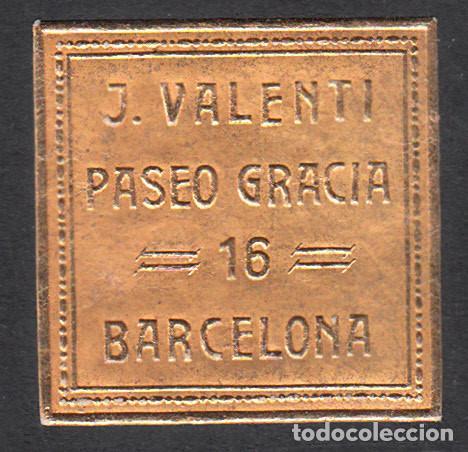VIÑETA - ETIQUETA J. VALENTÍ EN BARCELONA PASEO DE GRACIA 16 (Sellos - Extranjero - Viñetas)