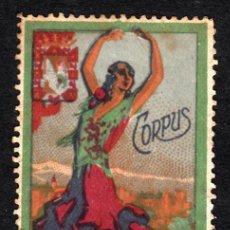Sellos: VIÑETA CORPUS GRANADA 1928. Lote 161938762