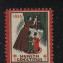 Sellos: S-3612- USA. VIÑETA. HEALTH GREETINGS 1938. PRO TUBERCULOSOS. CRUZ DE LORENA. . Lote 162308866