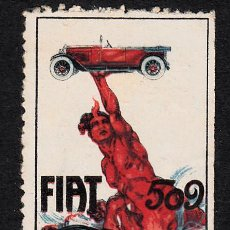Selos: VIÑETA AUTOMOVILISMO - FIAT 509. Lote 163480014