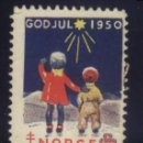 Sellos: S-3747- NORUEGA. NORGE GOD JUL 1950. PRO TUBERCULOSOS. CRUZ DE LORENA. . Lote 164735718