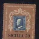 Sellos: S-3748- ITALIA. SICILIA. PALERMO. EXPOSIZINE FILATELICA 1959 . Lote 164735922