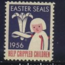Sellos: S-3758- CANADA. EASTER SEALS. HELP CRIPPLED CHILDREN. 1956 . Lote 164778842