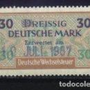 Sellos: S-3760- ALEMANIA. GERMANY. DREISSIG DEUTSCHE MARK. DEUTSCHE WECHSELSTEUR. . Lote 164779778