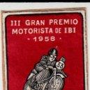Sellos: VIÑETA III GRANPREMIO MOTORISTA DE IBI - ALICANTE - 1958 ---EXCELENTE----. Lote 164852142