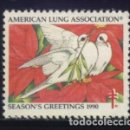 Sellos: S-3789- USA. AMERICAN LUNG ASSOCIATION. SEASON´S GREETING 1990. PRO TUBERCULOSOS. CRUZ LORENA. . Lote 164914074