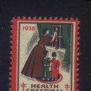 Sellos: S-3829- USA. VIÑETA. HEALTH GREETINGS 1938. PRO TUBERCULOSOS. CRUZ DE LORENA. . Lote 165247630