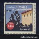 Sellos: S-4067- VIÑETA. RIMSKY KORSAKOFF. CAPRICCIC ESPAGNOL.. Lote 168620052