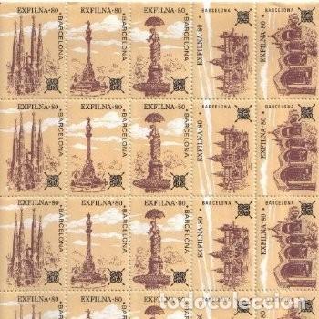 Sellos: Lote 3 - 4 PLIEGOS O HOJAS ENTERAS DE VIÑETAS CONMEMORATIVAS (1974 y 1980) - Córdoba y Barcelona - Foto 2 - 177568287