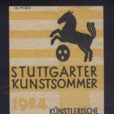 Sellos: S-4346- ALEMANIA. GERMANY. STUTTGARTER KUNSTSOMMER 1924. Lote 177724063