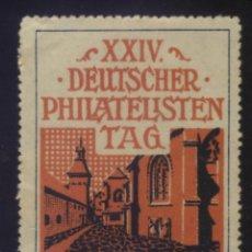 Sellos: S-4376- ALEMANIA. XXIV DEUTSCHER PHILATELISTEN TAG IN MARKTREDWITZ 1912. Lote 183451962