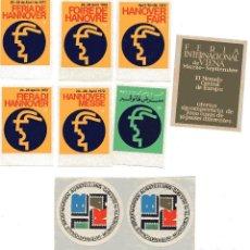 Sellos: S14 LOTE 9 VIÑETAS FERIAS ALEMANIA Y AUSTRIA: HANNOVER 1972 (IDIOMAS DISTINTOS), MUNICH 1973, VIENA. Lote 183813478