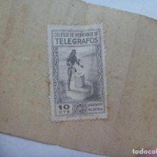 Sellos: VIÑETA DEL COLEGIO DE HUERFANOS DE TELEGRAFO, EN EL RECIBO DE UN GIRO AÑOS 50. Lote 183871822