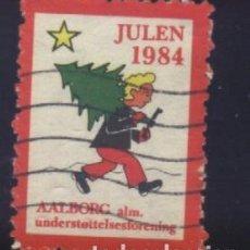 Sellos: S-4443- DINAMARCA. DANMARK. JUL 1984. AALBORG ALM.. Lote 187193622