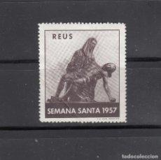 Sellos: REUS. SEMANA SANTA 1957. Lote 190764563