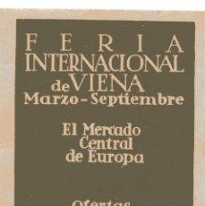 Sellos: S14B VIÑETA FERIA INTERNACIONAL DE VIENA. Lote 192201922