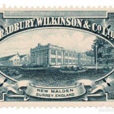Timbres: M142 UK – SURREY: VIÑETA COMERCIAL BRADBURY, WILKINSON & CO 1920'S. Lote 192826006